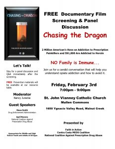 Documentary Film Screening:  'Chasing the Dragon' @ St. John Vianney Catholic Church | Walnut Creek | California | United States