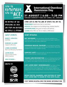 International Overdose Awareness Day Event:  Concord, CA @ Concord Community Park | Concord | California | United States