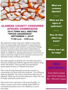 Town Hall Meeting:  Opioid Awareness @ Hayward | California | United States