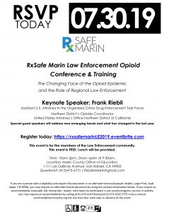 RXSafe Marin Law Enforcement Opioid Conference & Training @ Marin County Office of Education
