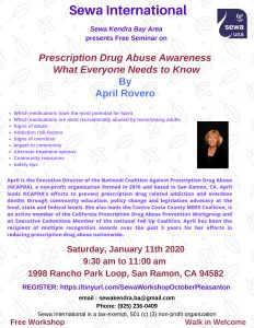 Prescription Drug Abuse Awareness: What Everyone Needs to Know @ Amador Rancho Center