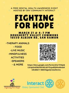 Fighting For Hope - Postponed @ Dougherty Valley High School Commons