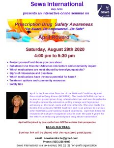 Prescription Drug Safety Education @ Virtual Zoom Session