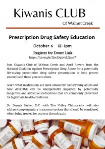 Prescription Drug Safety @ Walnut Creek Kiwanis Club Meeting