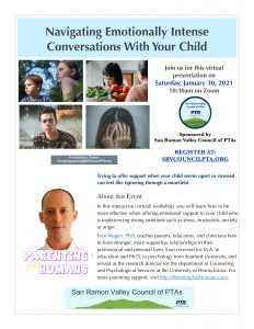 Navigating Emotionally Intense Conversations With Your Child @ Virtual Zoom Session