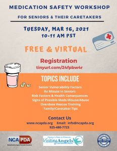Medication Safety Workshop - For Seniors and their Caretakers @ Virtual via Zoom