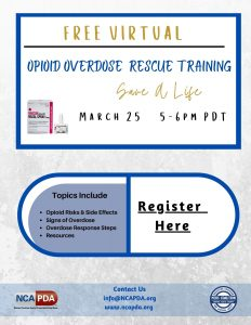 Opioid Overdose Rescue Training @ Virtual Zoom Session
