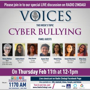 Zindagi Radio Voices Program - Cyber Bullying @ Radio Zindagi Channel 1170 AM