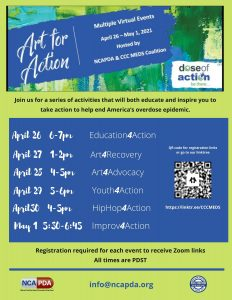 Art 4 Action Week! @ Virtual with Zoom logins for each event